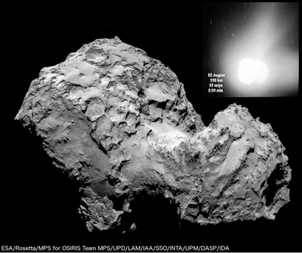 ESA Rosetta - OSIRS Narrow Angle Camera 2 e 3 agosto