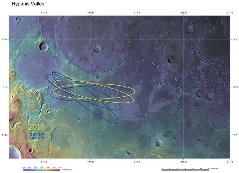 ExoMars Hypanis Vallis