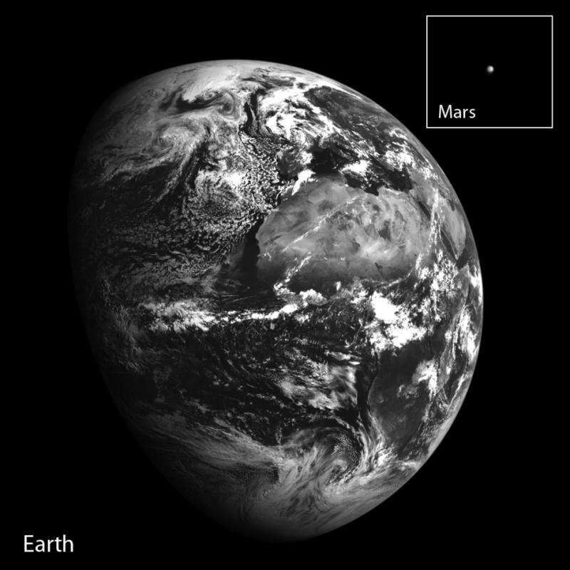 Terra e Marte by LRO