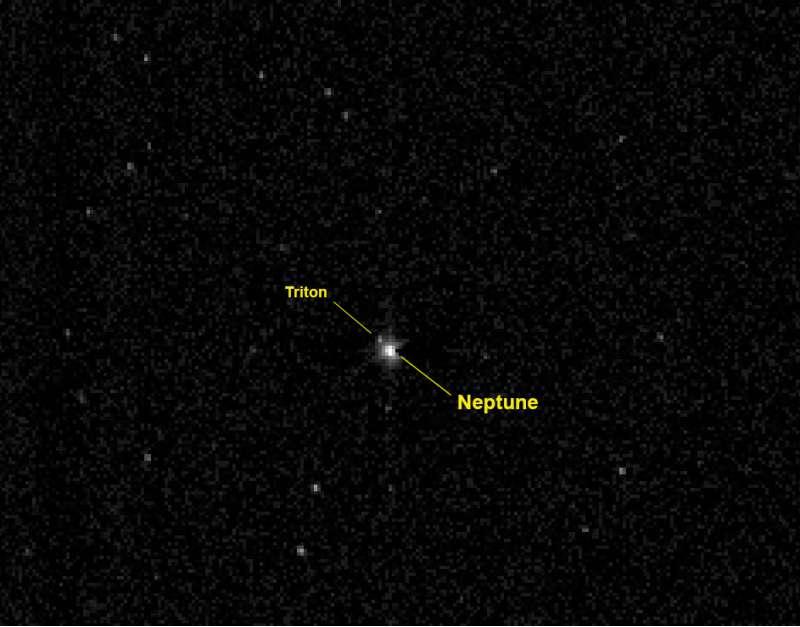 NASA New Horizons: Nettuto e Tritone 10 luglio 2014