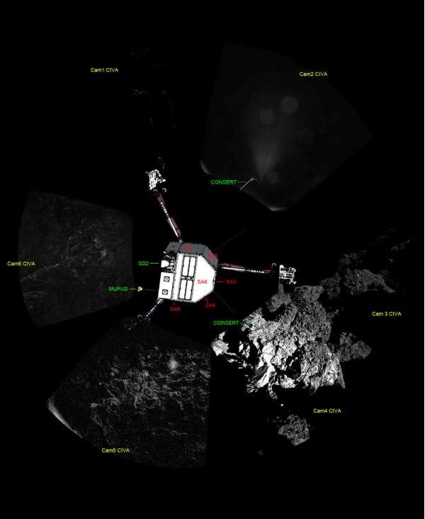 Philae - sito di atterraggio