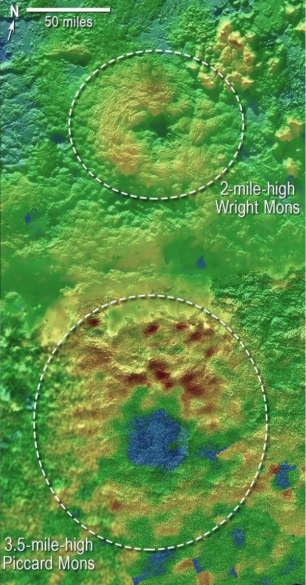 Plutone - mappa topografica 3D