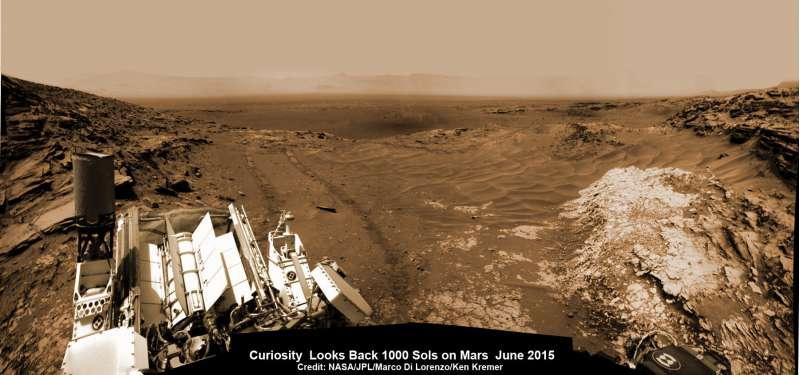 Curiosity Sol 997 NavCam