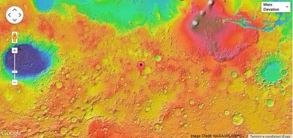Cratere Liu Hsin mappa