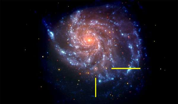 M101 ripresa dal satellite Swift