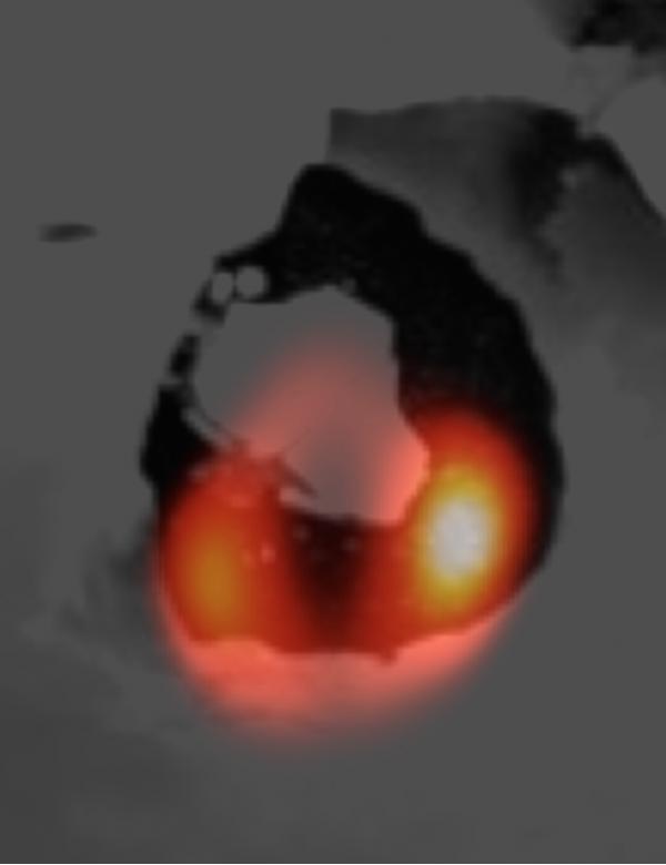 Immagine LBT e Voyager - Io, Loki Patera
