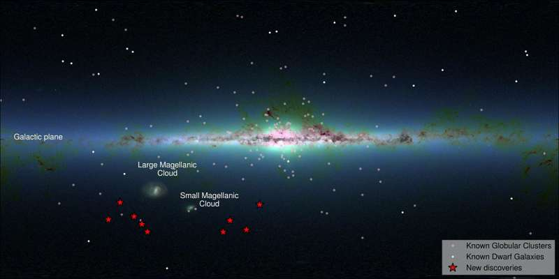 Distribuzione delle nuove galassie nane