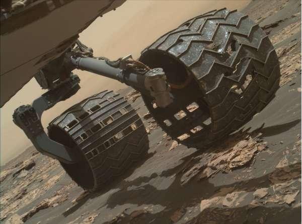 Monitoraggio delle ruote sol 1730 - Crediti: NASA/JPL-Caltech/MSSS