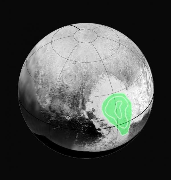 Plutone - mappa del monossido di carbonio