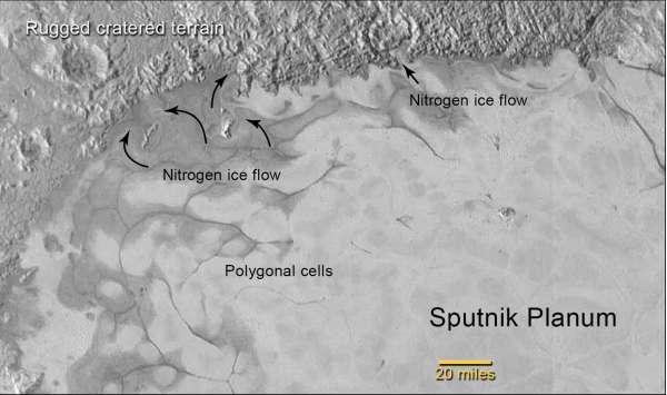 Sputnik Planum - regione nord-occidentale
