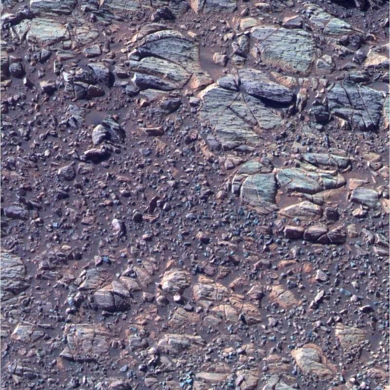 Segni di erosione nell'affioramento La Bajada