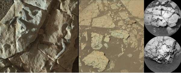 Curiosity, Vera Rubin Ridge: caratteristiche simili a bastoncini scuri incastonati nelle rocce