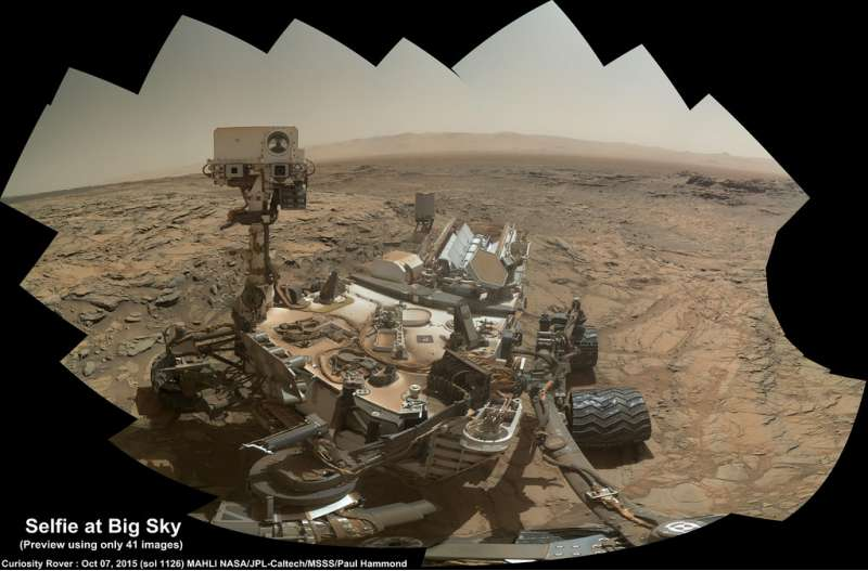 Sol 1126 Advance build of the Rover Selfie