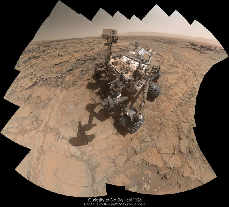 Curiosity at Big Sky - sol 1126