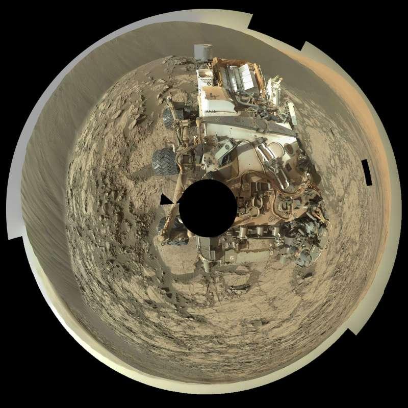 Curiosity Mastcam sol 1197: Namib panorama 360