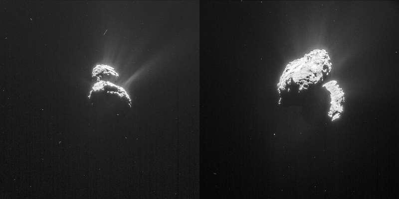 Rosetta NavCam - 67P 18 e 20 febbraio 2015