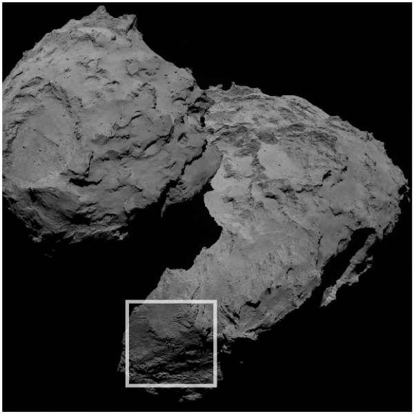 ESA Rosetta OSIRIS Balancing Boulders