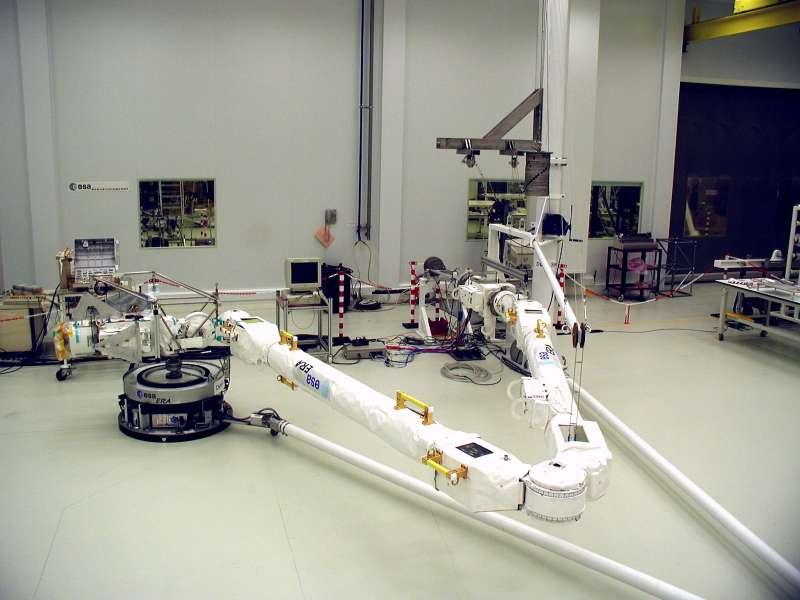 European Robotic Arm ERA during flat floor testing