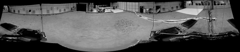 GTM takes NavCam panorama in Mars Terrain Simulator