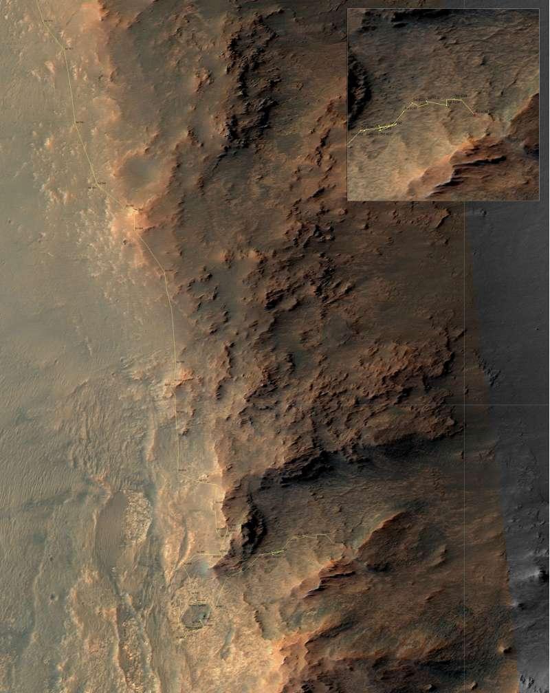 Opportunity - mappa: sol 4166