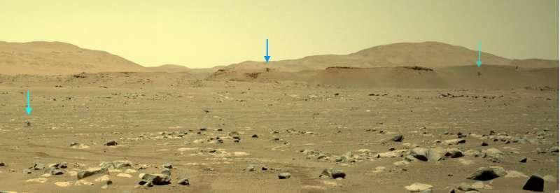 Mars Perseverance frecce