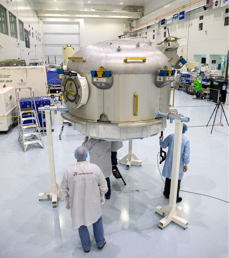 Nanoracks airlock in SSPF