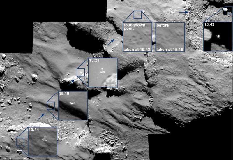PHILAE osservato da OSIRIS