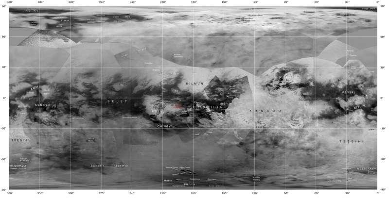 Titano - mappa