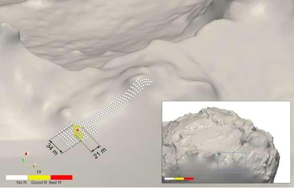 Philae: sito di atterraggio