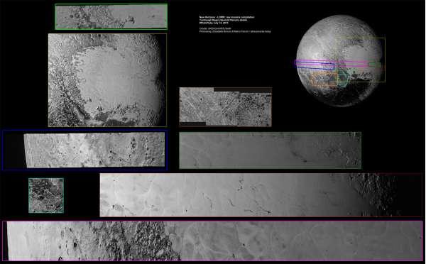 #PlutoFlyby - LORRI: compilation di mosaici della Sputnik Planum