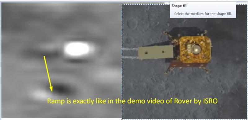 Chandrayaan-2: il rover Pragyan potrebbe essere uscito dal lander Vikram