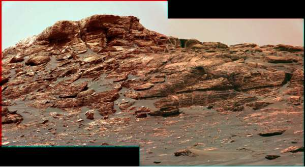Curiosity sol 1745 - anaglifo