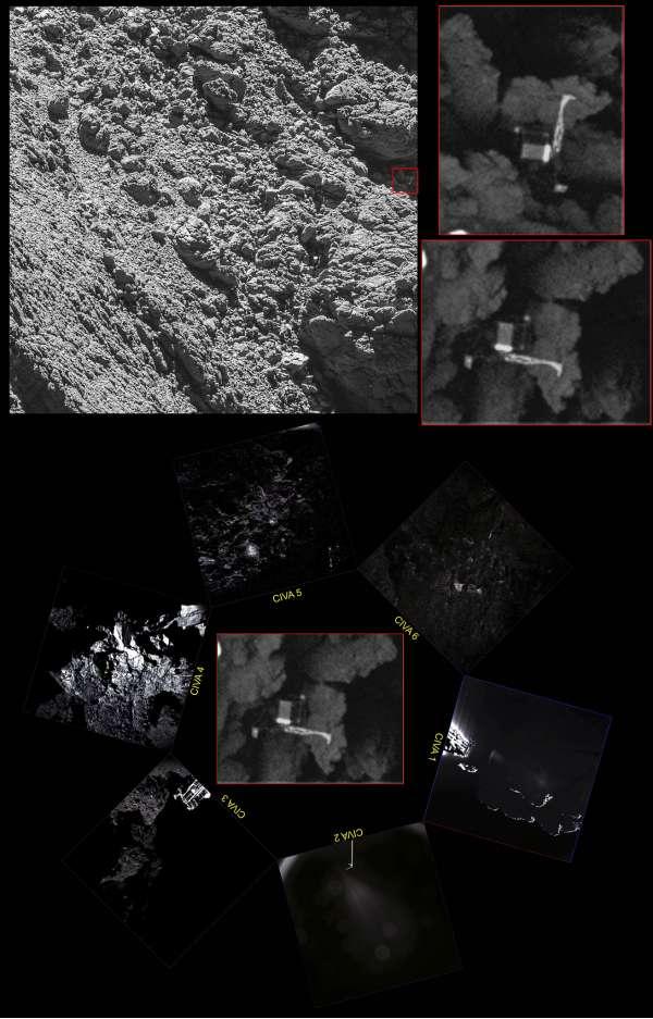 #PhilaeFound - la fotocamera OSIRIS a bordo di Rosetta ritrova il lander Philae