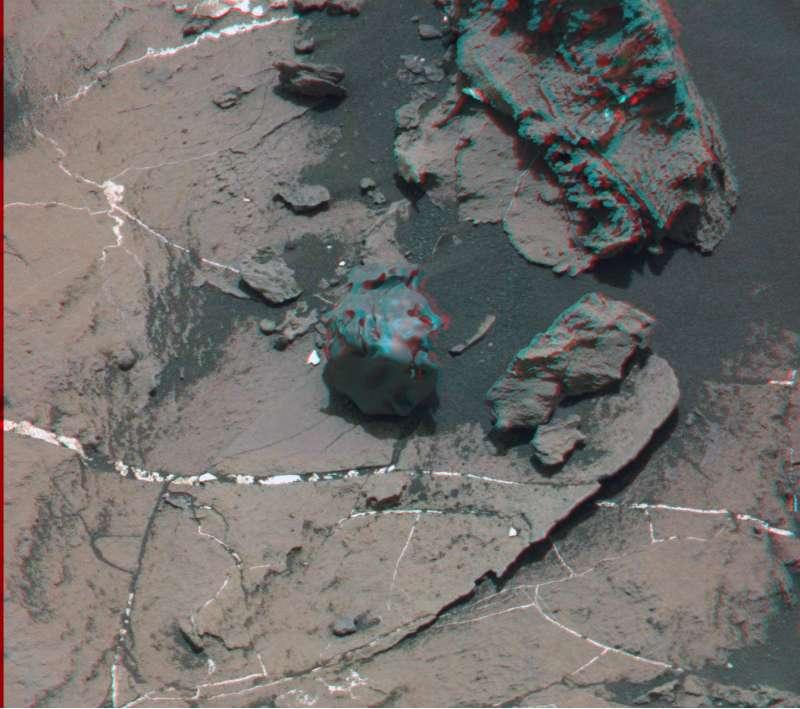 Egg Rock anaglifo - MastCam sol 1505
