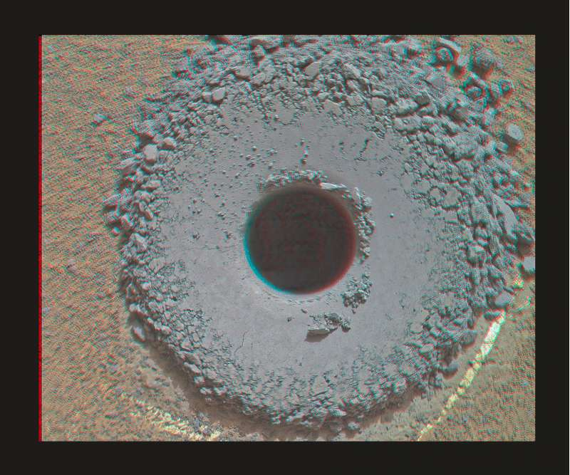 Curiosity MAHLI sol 1361 anaglifo