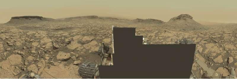 Curiosity a Murray Buttes - sol 1451
