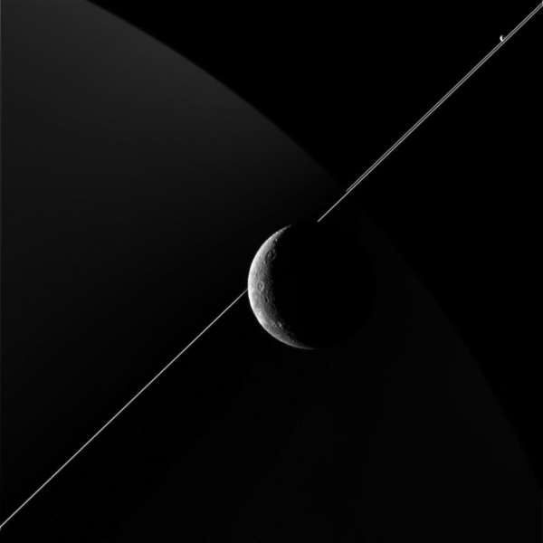 Dione Santurn and Pandora on June 16, 2015