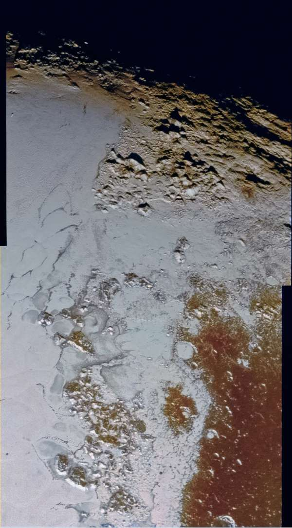 Pluto LORRI 2015-07-14 virtual color