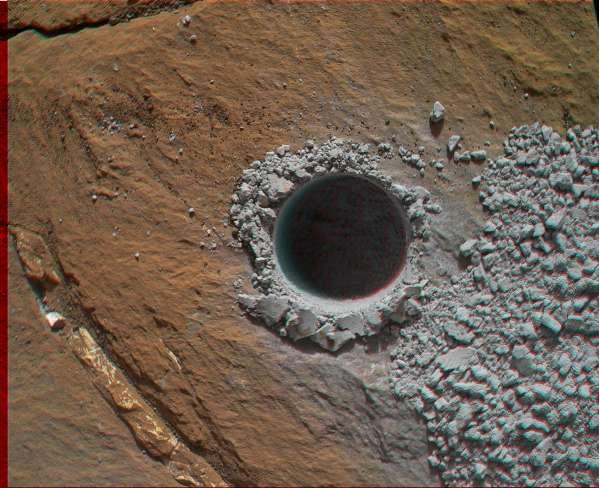 Curiosity MAHLI sol 1060 anaglyph