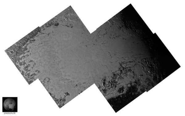 Pluto 14 July, 2015 LORRI mosaic