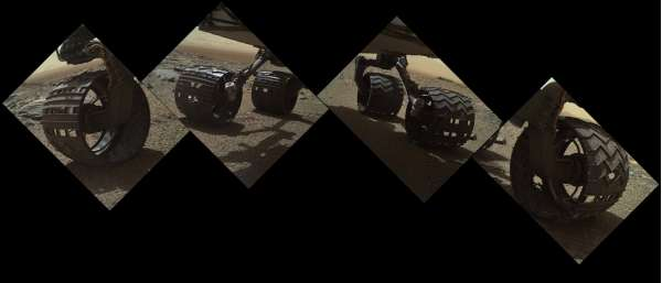 Curiosity MAHLI sol 1076 wheels