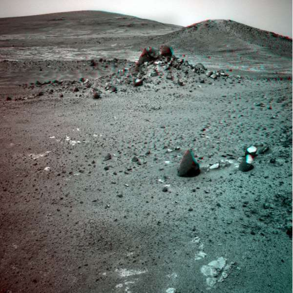 Opportunity Navigation Camera Sol 4004 anaglyph