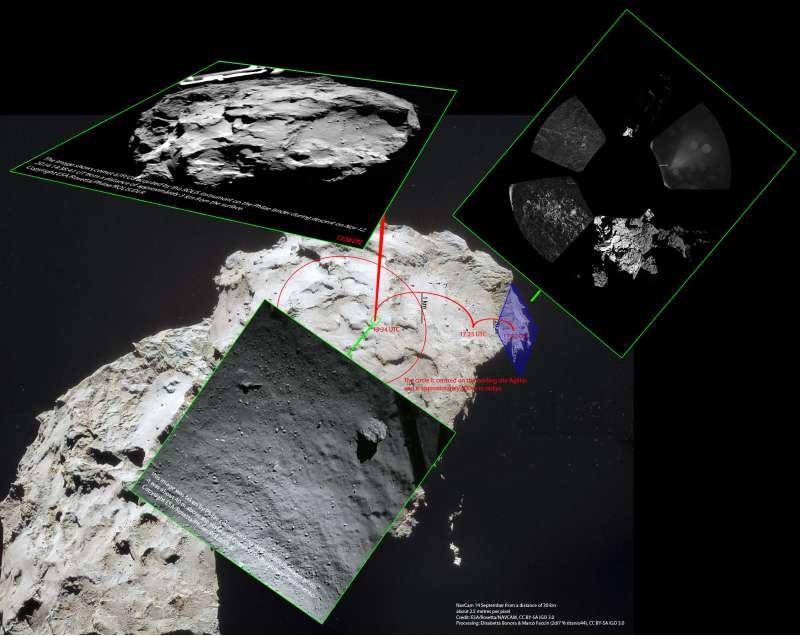#CometLanding probabile posizione di Philae
