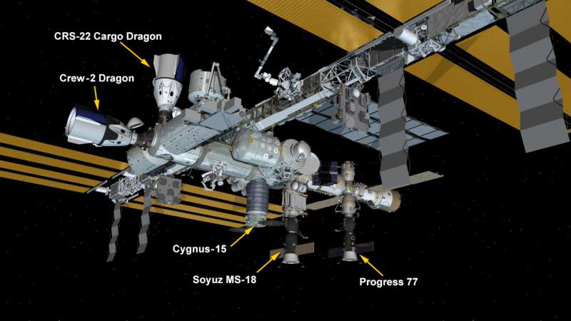 iss after dragon crs22 docking 05062021