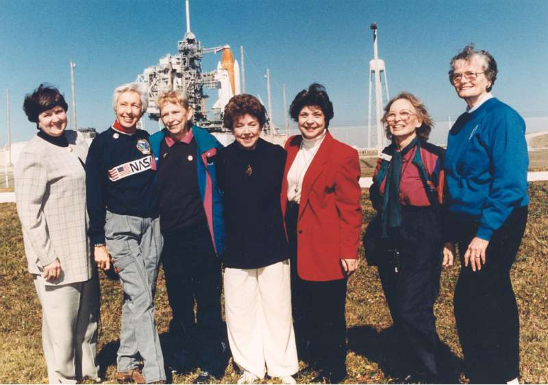 nasa Seven Members of the First Lady Astronaut Trainees in 1995