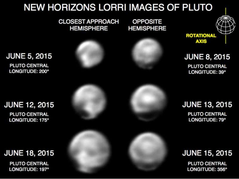 Plutone LORRI 4x e deconvoluzione