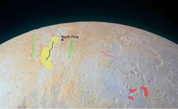 Plutone - polo nord