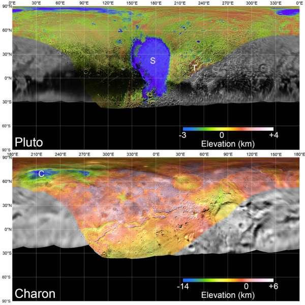 Plutone e Caronte - mappa globale