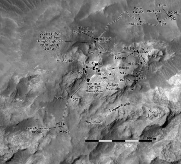 Curiosity: mappa 14 agosto 2015