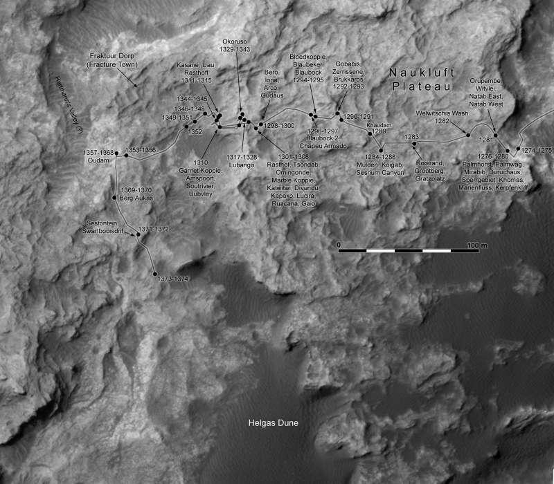 Curiosity: route map 17 giugno 2016
